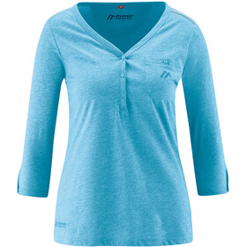 Maier Sports Clare 3/4 Shirt Women ethereal blue melange
